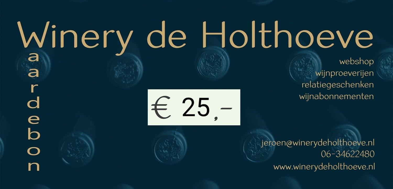 Winery de Holthoeve Waardebon €25.00