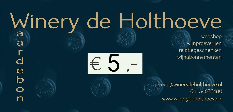 Winery de Holthoeve waardebon €5.00