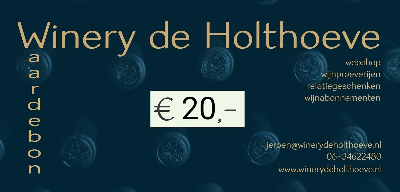 Winery de Holthoeve waardebon €20.00