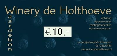 Winery de Holthoeve waardebon €10.00