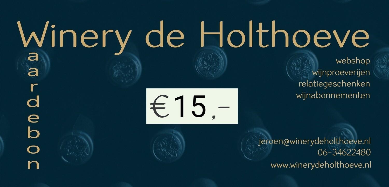 Winery de Holthoeve waardebon €15.00