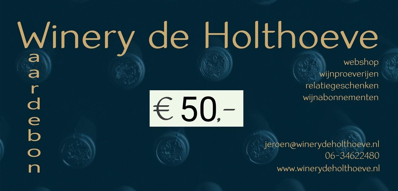 Winery de Holthoeve waardebon €50.00