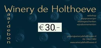 Winery de Holthoeve waardebon €30.00