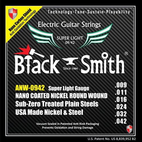 Black Smith Electric Guitar Strings AOT 9/42