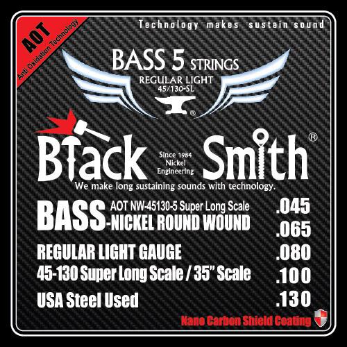 Black Smith 5 String Bass AOT 45/130