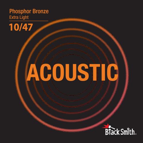 Black Smith Acoustic Guitar Strings Phosphor Bronze 10/47