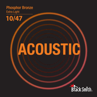 Black Smith Acoustic Guitar Strings Phosphor Bronze 10/47