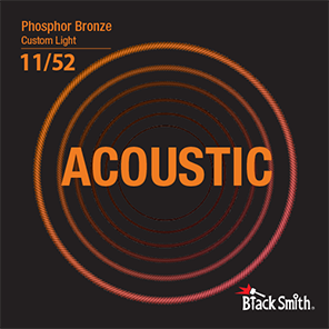 Black Smith Acoustic Guitar Strings Phosphor Bronze 11/52