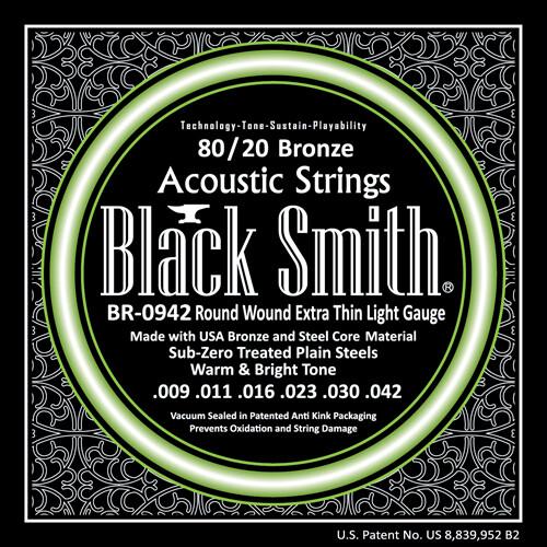 Black Smith Acoustic Guitar Strings 80/20 Bronze 9/42
