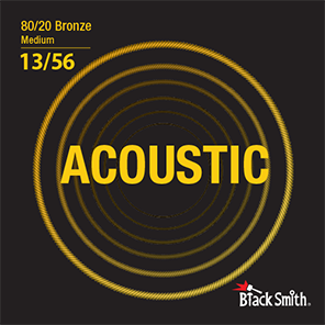 Black Smith Acoustic Guitar Strings 80/20 Bronze 13/56