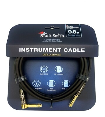 Black Smith Gold Series Instrument Cable 3M S/A