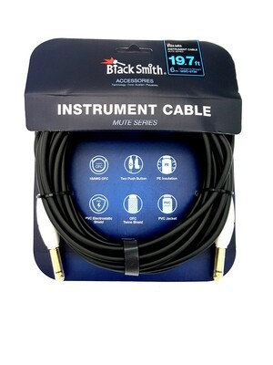 Black Smith Mute Series Instrument Cable 6M S/S