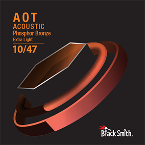 Black Smith Acoustic Guitar Strings Coated Phosphor Bronze 10/47
