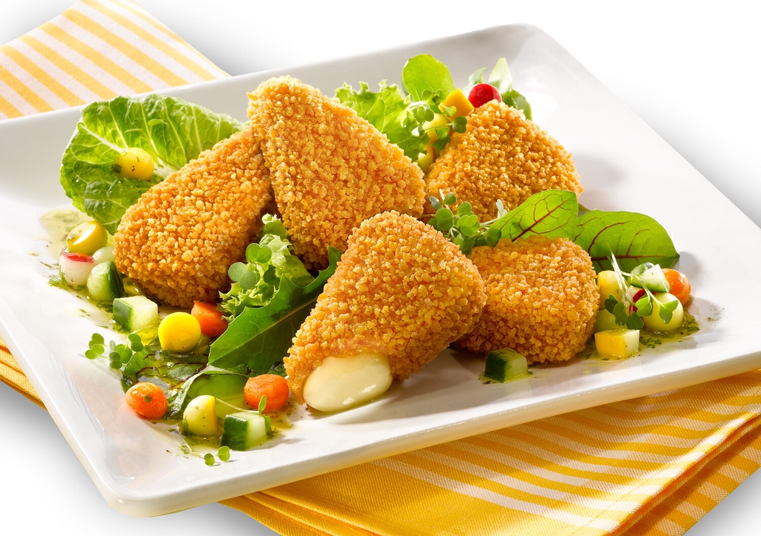 Breaded Brie Wedges