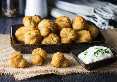 Express Breaded Garlic Mushrooms