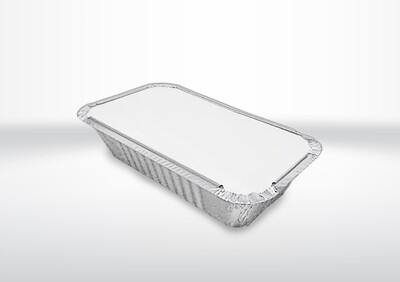 6A Long Foil Container & Lids (2 Boxes)