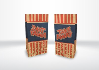 Large Take-Away Printed Bags