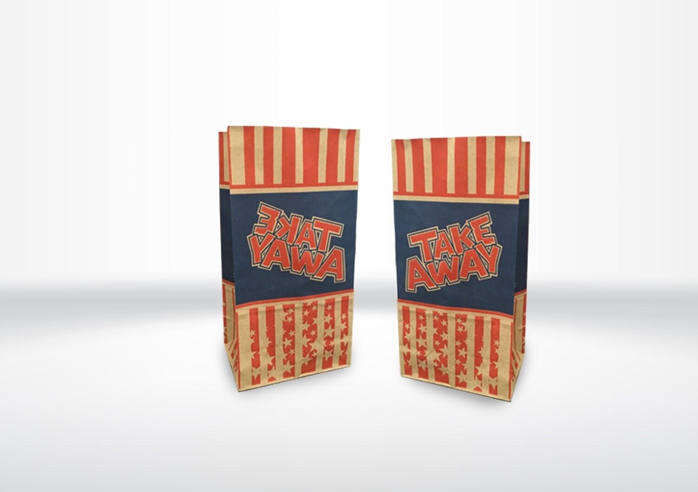 Small Take-Away Printed Bags
