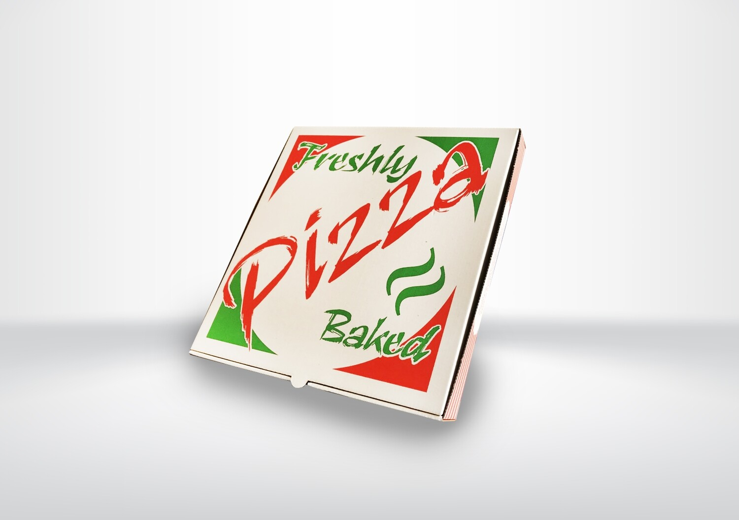 "12"" White Printed Pizza Boxes"
