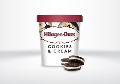 95ml Häagen Dazs - Cookies & Cream