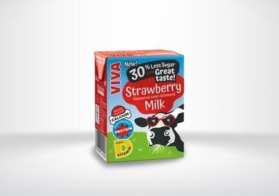 Viva Strawberry Flavoured Milk Cartons