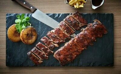 Full Rack BBQ Pork Loin Ribs