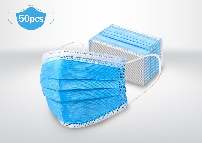Disposable 3ply Face Masks (non-surgical)