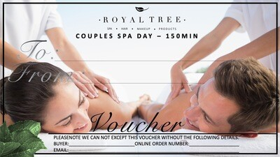 COUPLES SPA DAY - 150MIN