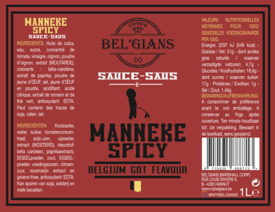 Bel'Gians - Manneke Spicy 3L
