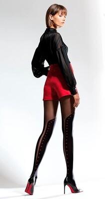 KOKO 3 kuvioidut sukkahousut 50den, musta