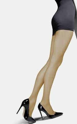 Ohut, yksivärinen sukkahousu 20den, natural