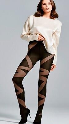 KOKO 2 grafiittikuvioidut sukkahousut 60den