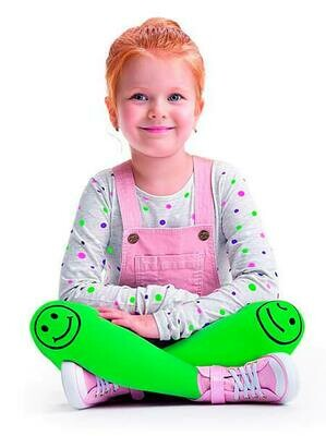 Lasten hymynaamasukkahousut 40den, vihreä