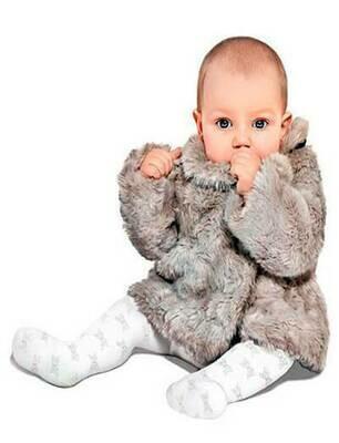 Vauvojen sukkahousut, rusettikuvioitu bianco