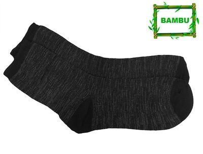 Varrelliset bambusukat, harmaa/musta