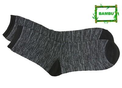 Varrelliset bambusukat KOKO 43-46, vaaleanharmaa/musta