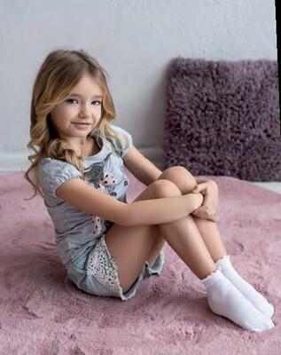 Valkoiset lasten sukat, 2paria