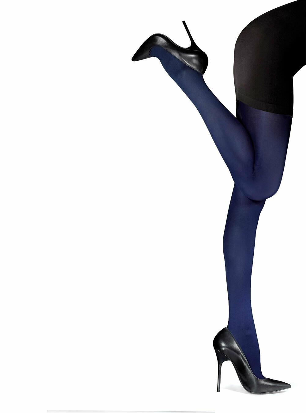 Yksiväriset sukkahousut 40den, tummasininen