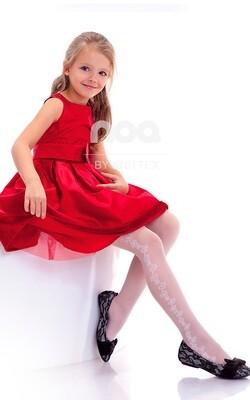 Lasten valkoiset sukkahousut 20den