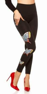 Ihanat leggingsit S/M, perhoskuvioinnit