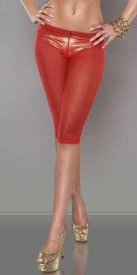 Fishnet-leggings 3/4, punainen