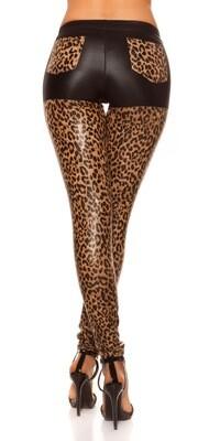 Leopardikuosi leggingsit takataskuilla