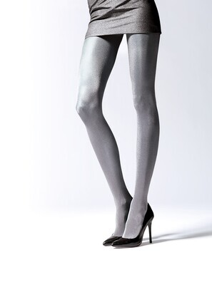 Metallinhohtoiset sukkahousut Brilliance, 50 den