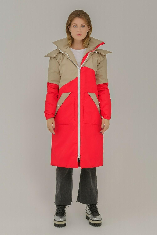 Тёплая куртка Midi oversize
