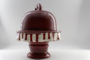 Berry Cream Drizzled Mini Cake Plate