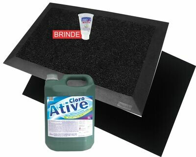 Tapete desinfetante + tapete secante + recarga cloro 350 usos