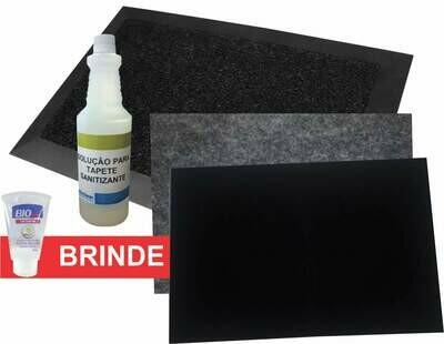 Tapete desinfetante + tapete secante + recarga 350 usos