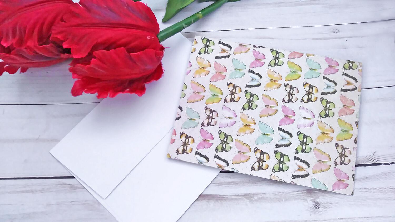 Handmade Greeting Card, Set of 5 Plain Note Card Set