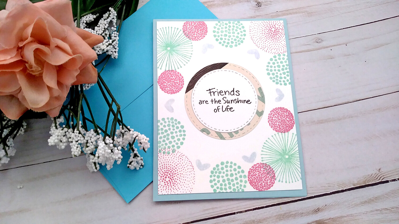 Handmade Greeting Card, Set of 4