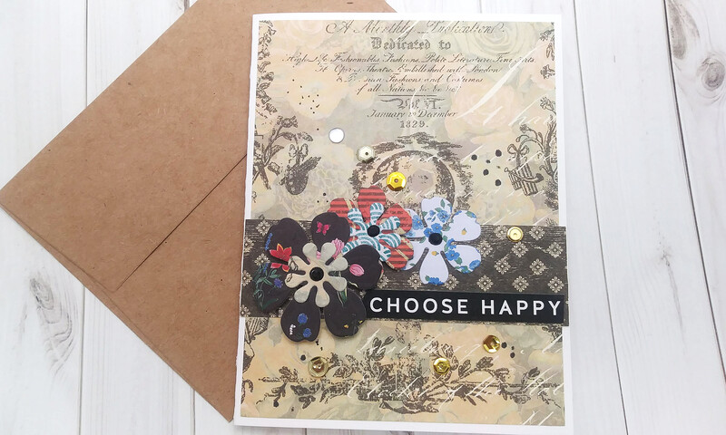 Handmade Greeting Card, Set of 7 Vintage